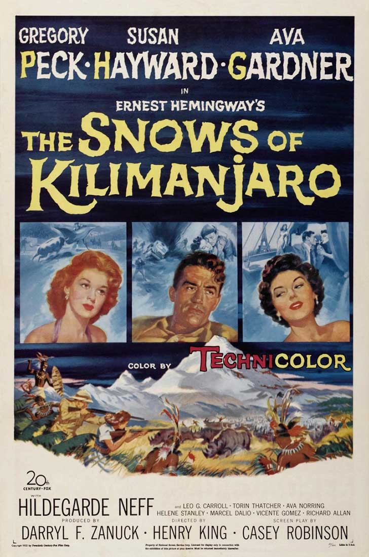 las nieves del Kilimanjaro películas clásicas online